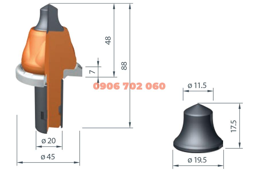 Răng cào Wirtgen W6 /20Z