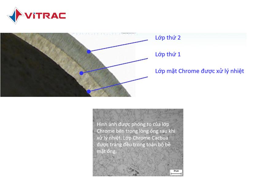 ống bơm bê tông mạ crom